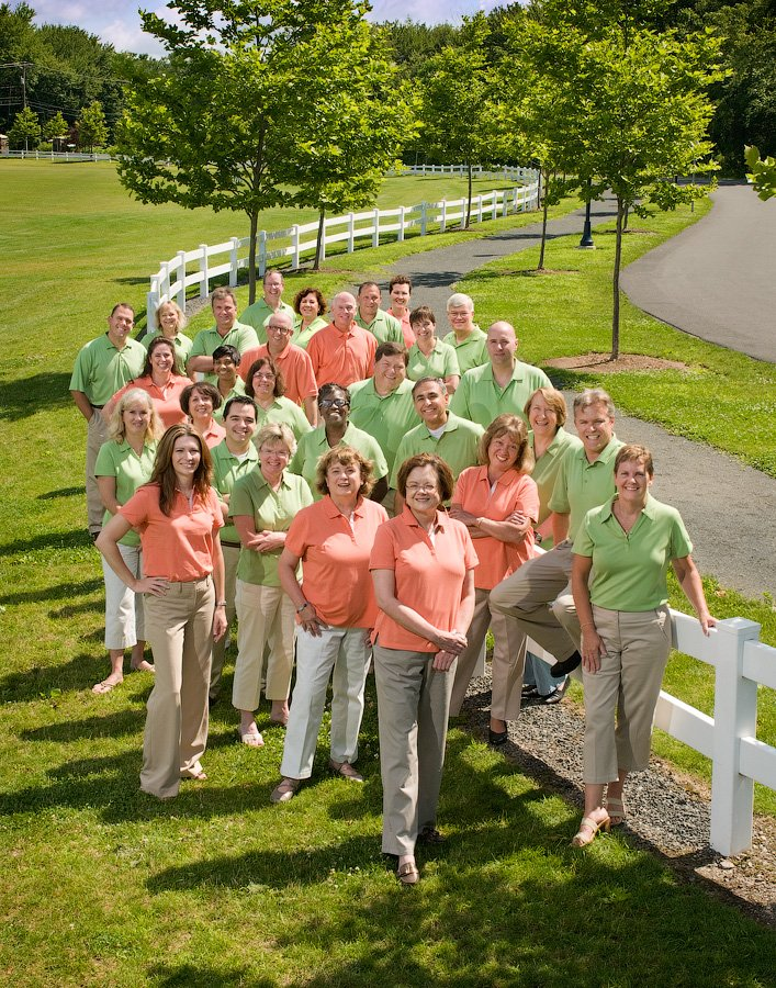 exterior corporate group photo