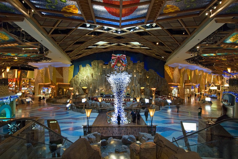 architectural casino lobby interior